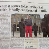 David Strange appears in The Times as the new poster kid for paranoid schizophrenia