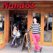 I am lividly dressed outside Nando&#039;s