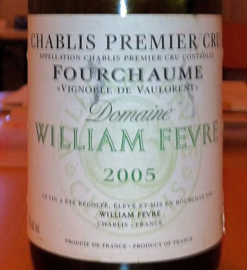 """Chablis Premier Cru Fourchaume """"Vignoble de Vaulorent"""" 2005, Fevre"""