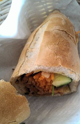 Banh Mi Bay grilled pork sandwich