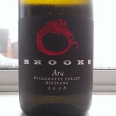 Brooks Ara Riesling 2008 from Oregon