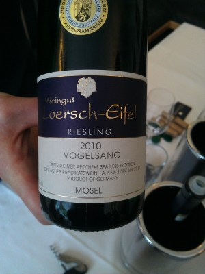 Loersch-Eifel Vogelsang Riesling&#039;s brilliant label