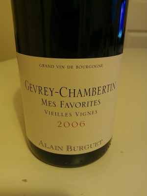 Gevrey-Chambertin Mes Favorites 2006 from Alain Burguet
