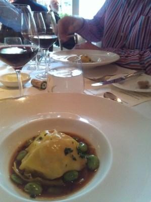 La Trompette's rabbit lasagne