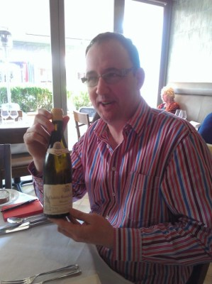 Our host Peter Sidebotham with Ravenneau Grand Cru 2004