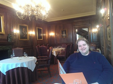 Editor Dani in the Lainston House Hotel dining room