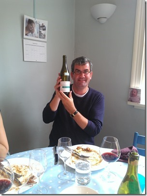 Peter modelling his excellent bottle of Nuits.