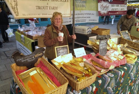 New Forest Smokery and Trout Farm stall