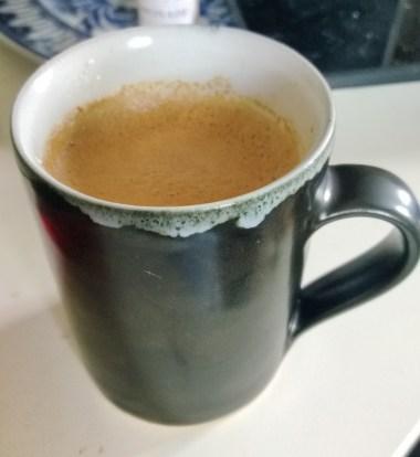 Dharkan Nespresso coffee in a Rupert Spira espresso cup