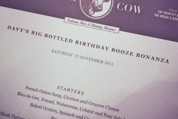 Big Bottle Bash menu