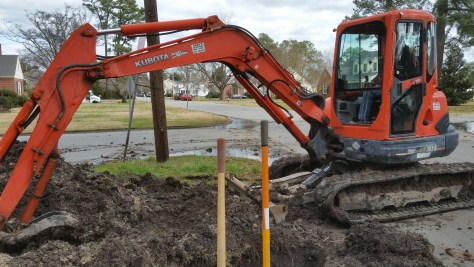 Installing New Sewer Line