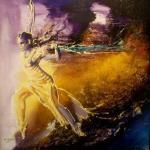 Nadia Rhessal:La danseuse en peinture.