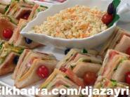 كلوب ساندويتش (مثلثات الجبن و التركي)