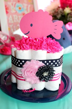 Cool A Girl Navy Pink Nautical Baby Shower Ellery Designs Baby Shower Girl Ideas Baby Shower Girl Cake Ideas