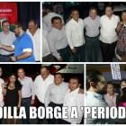 ARRODILLA BORGE A PERIODISTAS