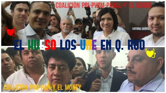 Une el hueso a las coaliciones de Quintana Roo