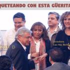 Luz María Beristáin saluda a Andrés Manuel López Obrador
