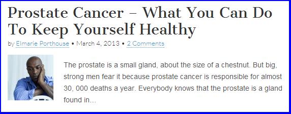 writer's portfolio, men's health