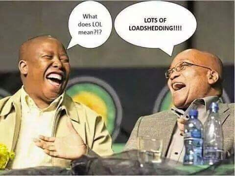 load shedding in south africa zuma and malema