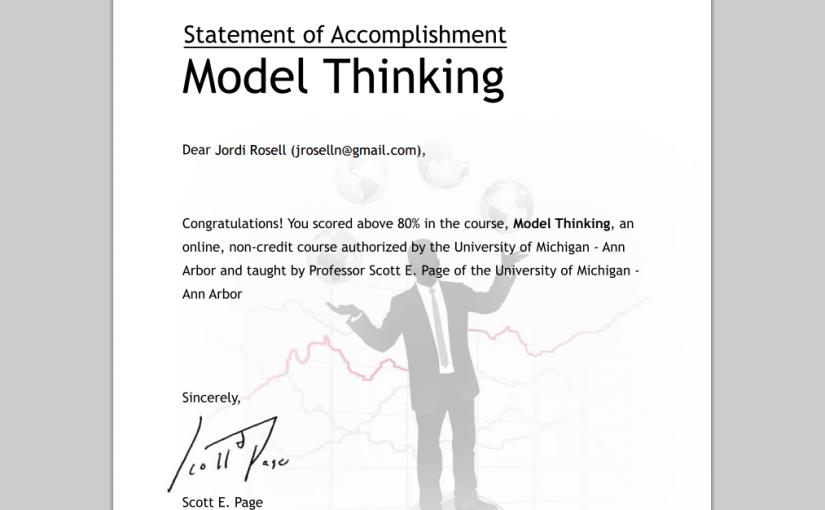 Model Thinking, modelar per pensar de forma efectiva