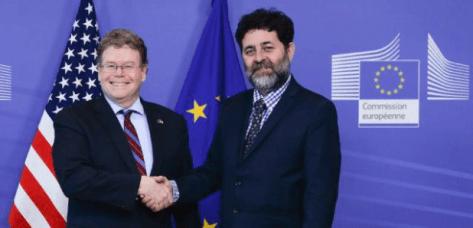 Los dos negociadores del TTIP, Dan Mullaney (EEUU) e Ignacio García Bercero (UE)
