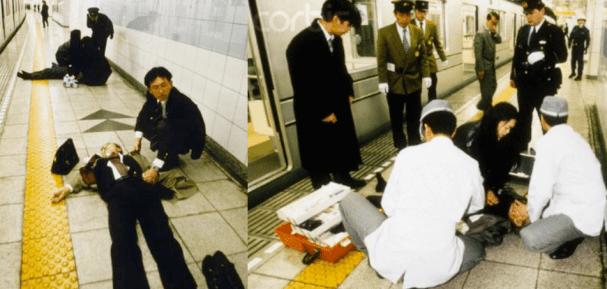 Ataque al metro de Tokio en 1995. Fuente: http://conoce-japon.com/historia-2/atentado-en-el-metro-de-japon/