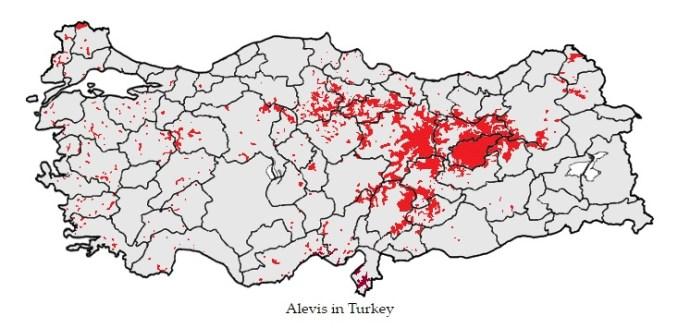 Los alevíes en Turquía se concentran especialmente en la zona central de Anatolia