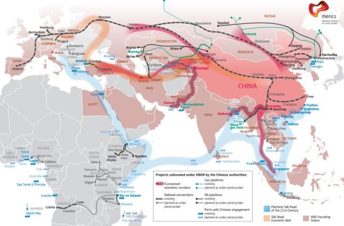 India ve con preocupación las ambiciones chinas y sus proyectos de infraestructuras o energía. Irán, en cambio, se adapta más bien a un cálculo de coste-beneficio. Fuente: Mercator Institute for Chinese Studies