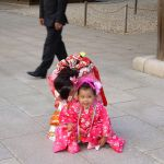 Niñas japonesas en el Meiji Jingu