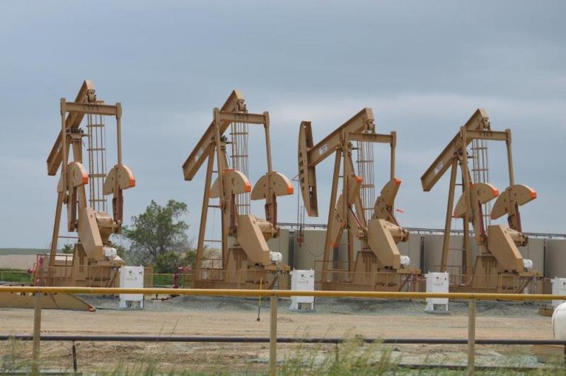 Pozos de 'shale oil' en Bakken, Dakota del Norte.