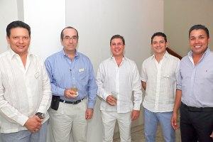Luis Francisco Dangond, Miguel Sarmiento, Juan Manuel Lacouture, Silvestre Dangond y Carlos Mario Murgas.