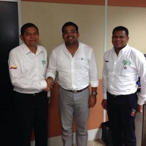 Miguel Romo, Augusto Ramírez Uhia y Daniel Yepes.