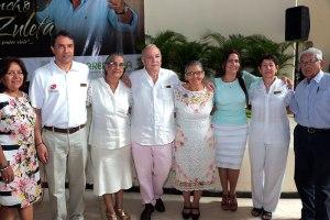 Patricia Zuleta, Rodolfo Molina, Carmen Zuleta, Efraín Quintero, María Clara Zuleta, Carmen Sara Zuleta, Lourdes Baute y Teobaldo Zuleta.
