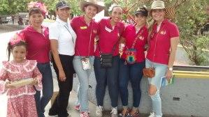 Alix Machado, Gina Tapias, Kelly García, Susana Ariza, María Elvira Díaz y Rosa Elvira Ustariz.