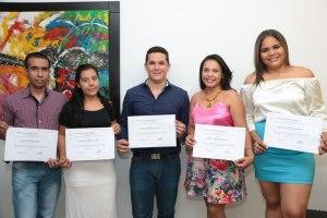 Franco Tolosa, Ruth Villazón, Ricardo Rincón, Carolina Barroso y Rosandra Puello.