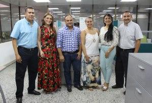 Orlando Saavedra, Kenith Castro, José Ángel Rojas, Liseth Aguilar, Yolima Costa y Carlos Cárdenas.