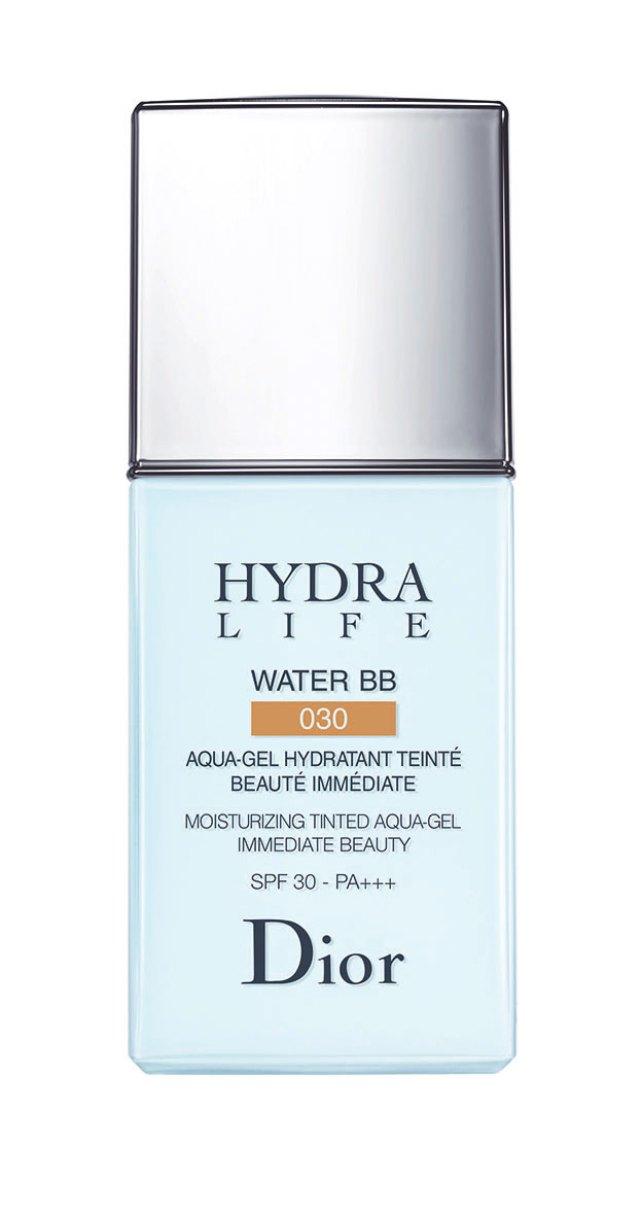 Hydra Life Water BB Cream SPF 30-PA, Dior. Esta es una nueva generación de BB, con una textura inédita: un agua-gel con color sorprendente, ultraligero y con SPF30.