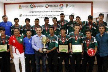 Mayoría de edad de Copa Coca Colacon 75 equipos en Quintana Roo