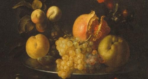 Zurbarán, Naturaleza muerta con fruta y jilguero, 1639-1640 (detalle)