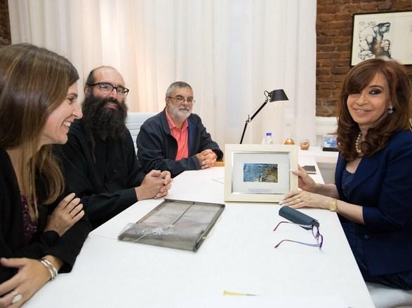 Raverta junto CFK y Cientificos