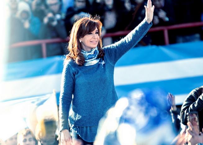 Cristina Kirchner se tomó un café con artistas K