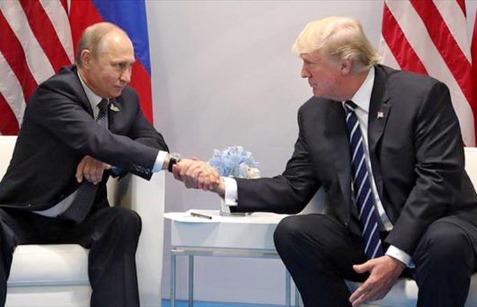 Putin y Trump se saludan durante Cumbre G20