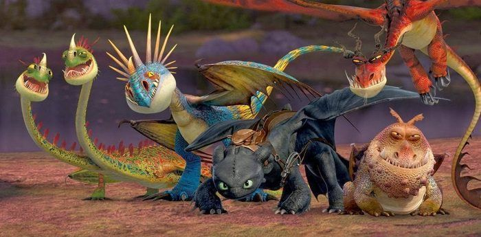 Los diferentes dragones de How to Train your Dragon