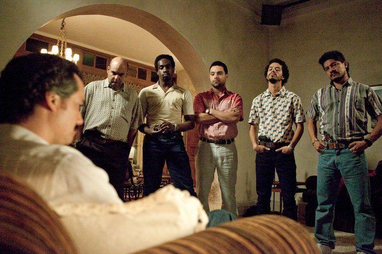 Pablo Escobar y su equipo de narcotraficantes