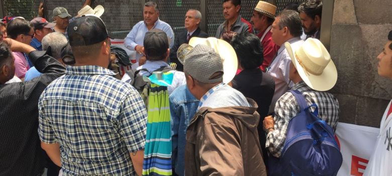 Ejidatarios del sur se manifestaron en la Ciudad de México