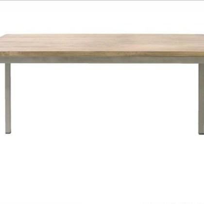 020891020 Mesa recta hierro madera150x90x75h