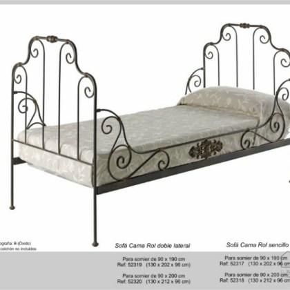 02852319 Sofá-cama de forja