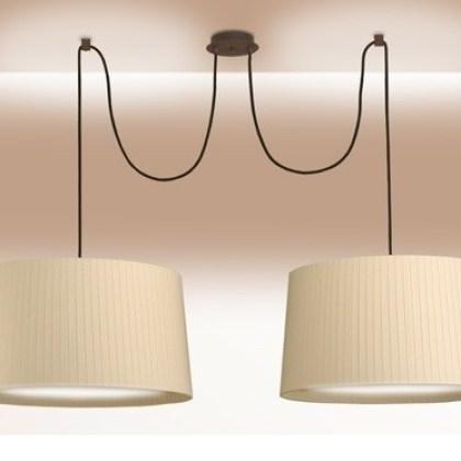 L mpara pantalla encintada el taller de carola - Pantalla lampara techo ...