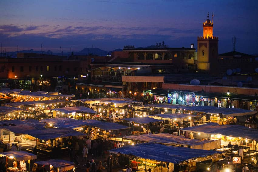Morocco_Marrakech-at-night