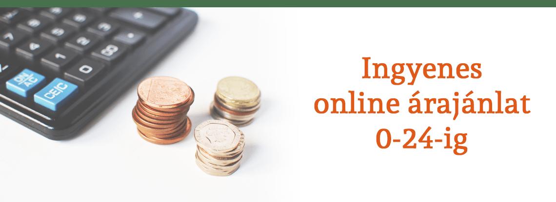 online árajánlat slider